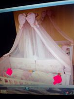 "Кроватка з повним комплек ліжечко люлька-гойдалка Veres ""Сонко"" 2 шт"
