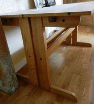 stół sosnowy duży, rozkładany.