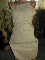 бежживое платье 40 размер