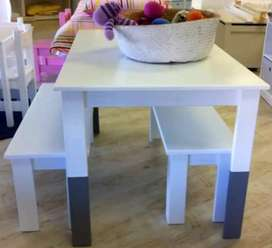 Kids table and benches