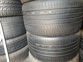 2x Good Used 315/35/R21 Continental Conti6 Tyres