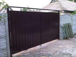 Забор,ворота,навесы, калитки от производителя под ключ.