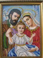 "Картина - икона бисером ""Святое семейство"""