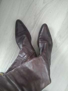 Brown leather boots size 40