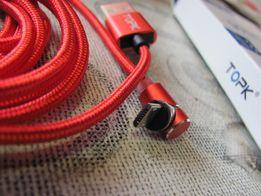 угловой кабель зарядка магнитная (магнитный провод) mirco USB TOPK 2м