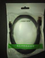 Качественный кабель UGREEN USB - USB-C, 2м, 2,4 А
