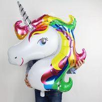 Balon Jednorożec DUZY tęczowy 115cm! hel unicorn różne