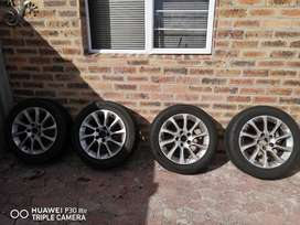 """16"""" 205 55 audi rims and tires"""