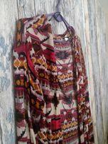 H&M cienki wzorzysty sweterek narzutka XS
