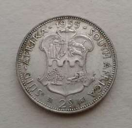 Nice 1955 S.A silver 2 Shillings