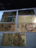 Pozłacane banknoty