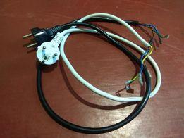 Сетевой шнур с заземлением (евро вилка- три мамки)