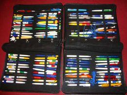 Kolekcja długopisów w 2 klaserach