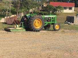 Tractor mower for hire