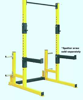 Heavy-duty squat rack and pull up bar frames