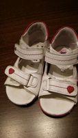 Sandały dziewczęce lasocki r 21 skórzane