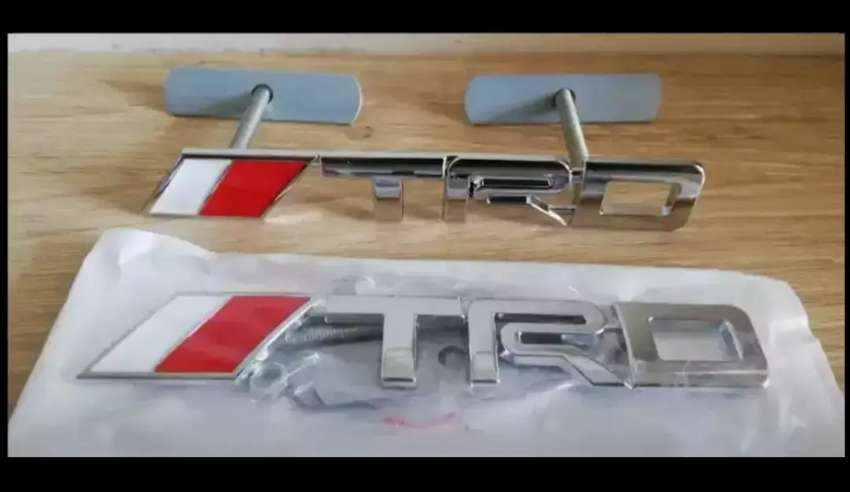Toyota TRD badges emblems decals stickers