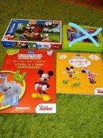 3 Myszka Mickey Minnie Disney książka naklejki puzzle Miki Mini