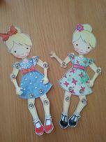 Кукла бумажная подвижная интересно играть закладка интерьерная