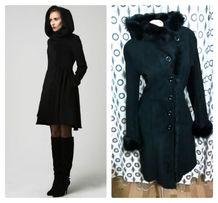 Дубленка женская кожаное пальто миди с капюшоном женское зимнее