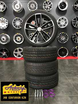 "18"" MAG TYRE COMBO 5/112 PCD new suitable Audi, VW, MERC"