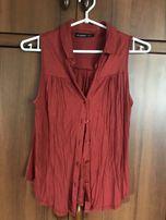 koszula bez rękawów ruda miedziana ATMOSPHERE 38 M czerwona