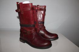 Polking Lea buty zimowe kozaczki Bordo rozmiar 33 Skóra wkładka 21,5cm