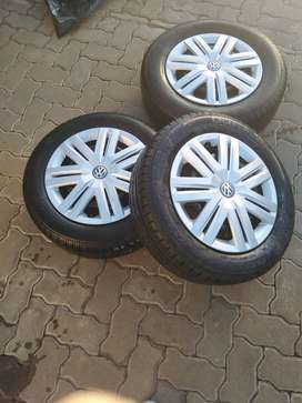 14 inch Polo Steel Rims with Wheel Caps and Tyres
