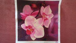 Алмазная мозаика. (Вышивка).Орхидеи розовые 2500р