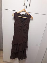 Интересное платье продам цвета шоколад 46р.