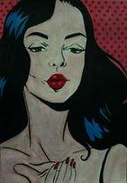 Картина постер комикс поп-арт гуашь 21*30 см интерьерная