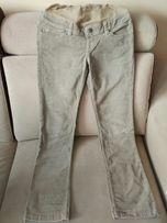 Spodnie ciążowe H&M MAMA sztruks rozmiar S/M