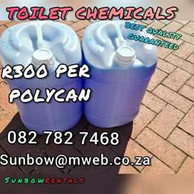 PORTABLE TOILET CHEMICALS FOR SALE
