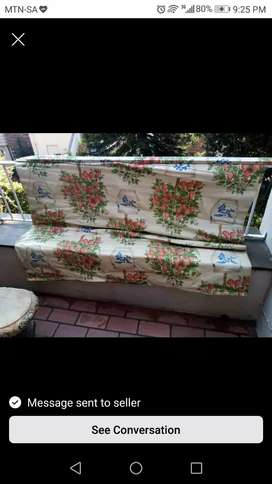 Blinds with flower pot print