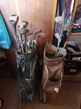 2 Golf Bags and clubs600