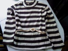 Tunika brązowo-kremowa dziewczęca