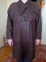 Продам женский кожаный плащ б/у