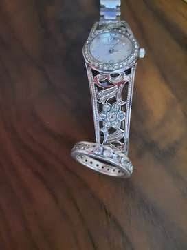 Silver Minx Watch and Silver Ring