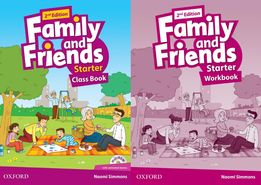 Family and Friends Starter: ClassBook+Workbook+Наклейки+CD 2 edition