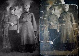 Репродукция , реставрация и восстановление старых и поврежденных фото