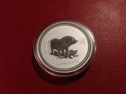 Монета 1 доллар Австралия серебро
