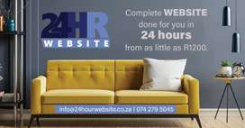 Complete Website done in 24Hours