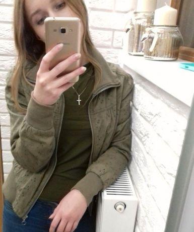 Kurtka bomberka ażurowa krótka khaki Przemyśl - image 2