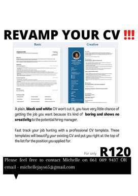 Are you looking to Revamp your CV?