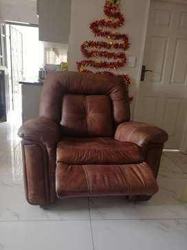 New Full leather recliner