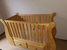 Cot and drawer cabinet
