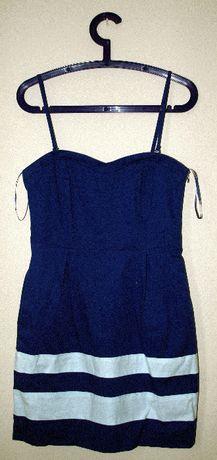 Niebiesko-biała sukienka Reserved, 36/38 - używana Gdańsk - image 1