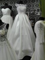 Suknia ślubna z mikado, z kieszeniami