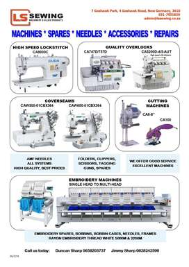 CUDA Industrial Sewing Machines and Embroidery Equipment