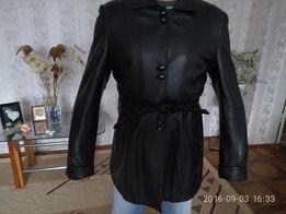 Женская кожаная куртка- пиджак